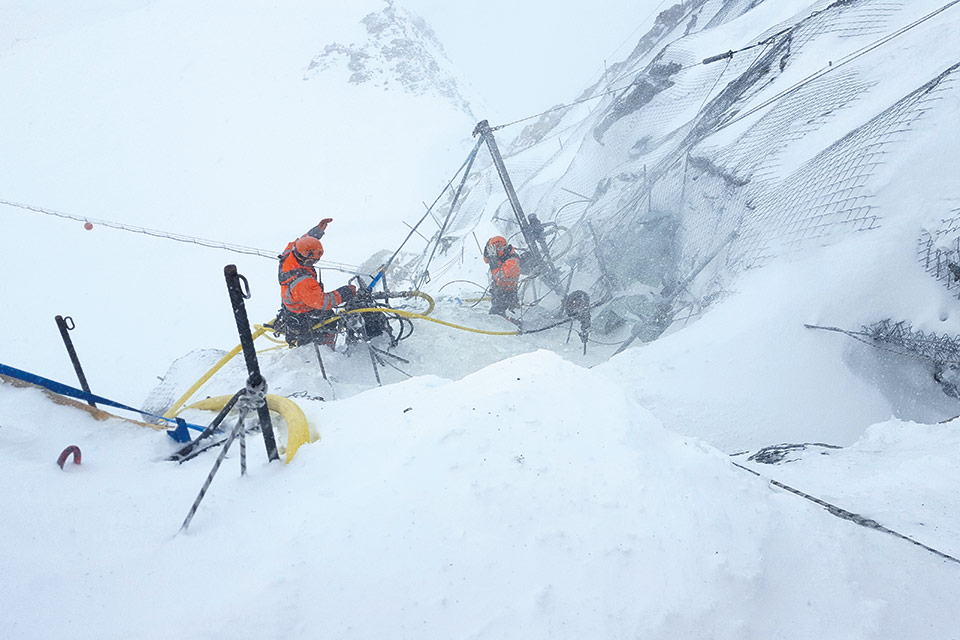 Felssicherung Klein Matterhorn