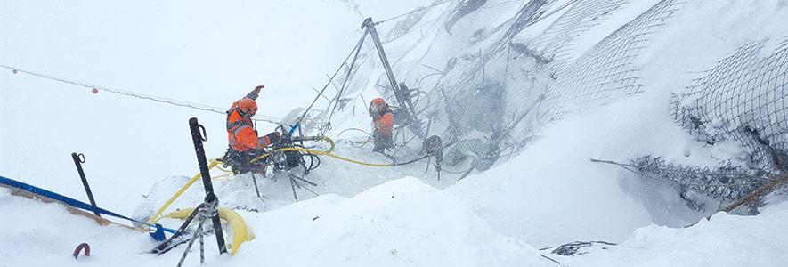 Felssicherung: Hochalpines Gelände