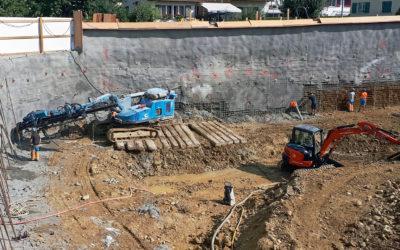 Baugrubensicherung im Ortszentrum