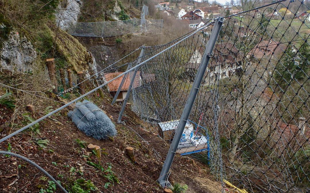 Kleingemeinde vor Steinschlag geschützt
