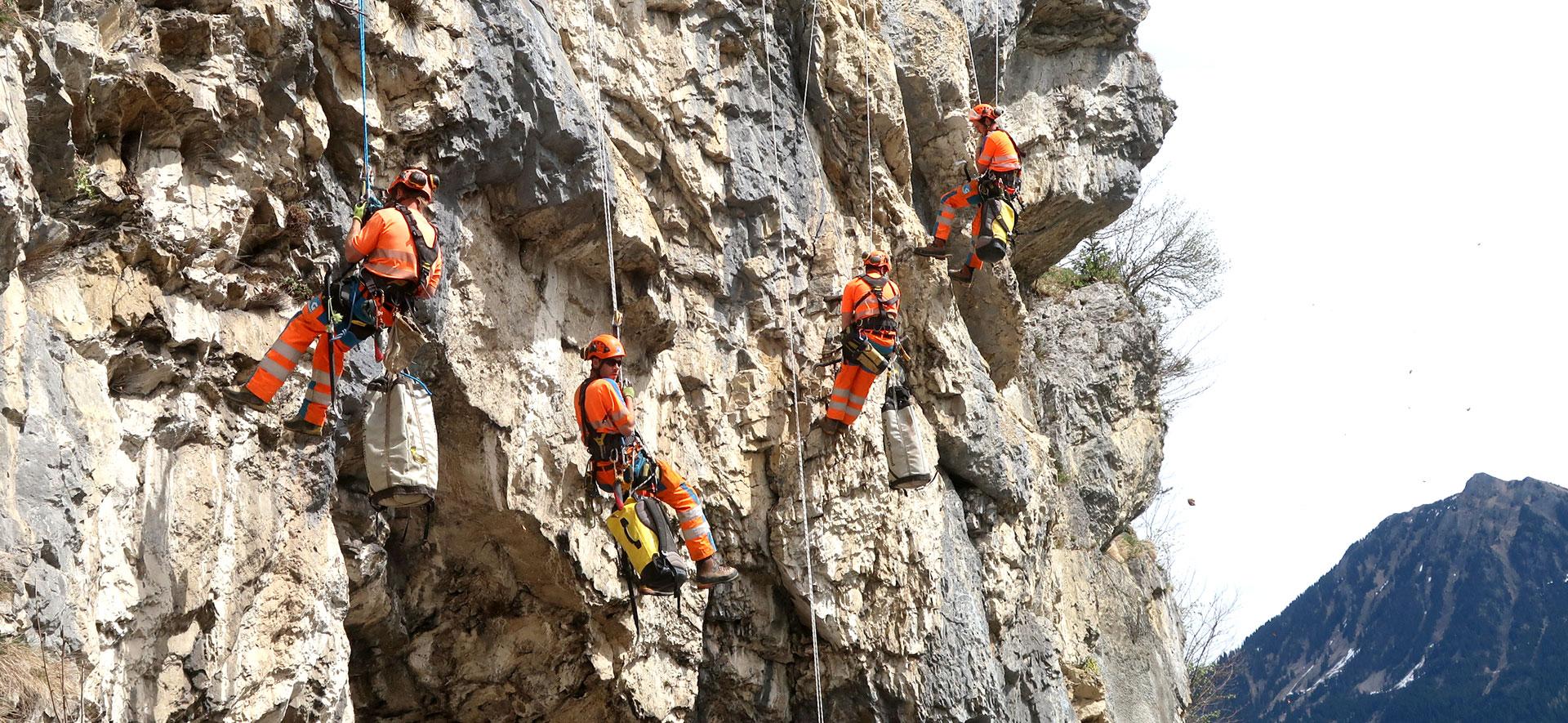 Felsreinigung: Einst und heute