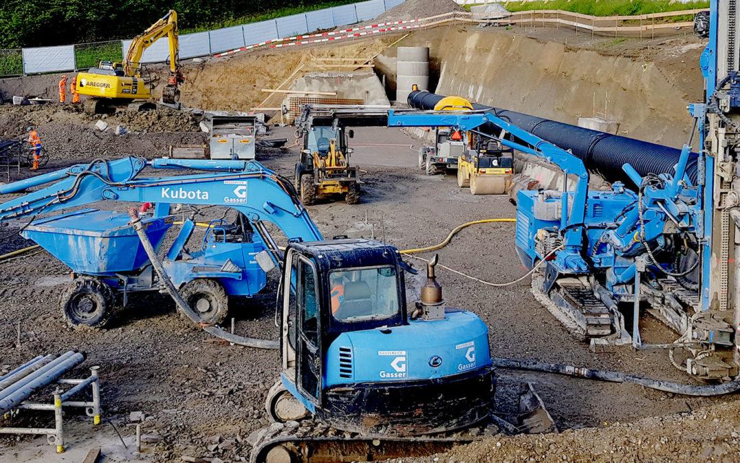 Baugrubensicherung und Pfählung