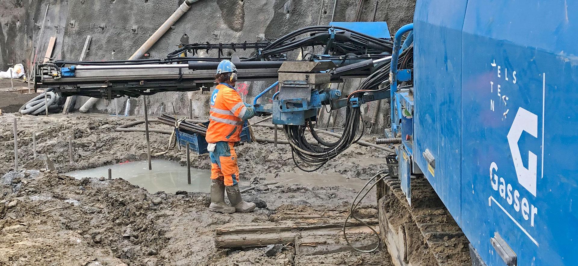Pfahlfundation und Baugrubensicherung