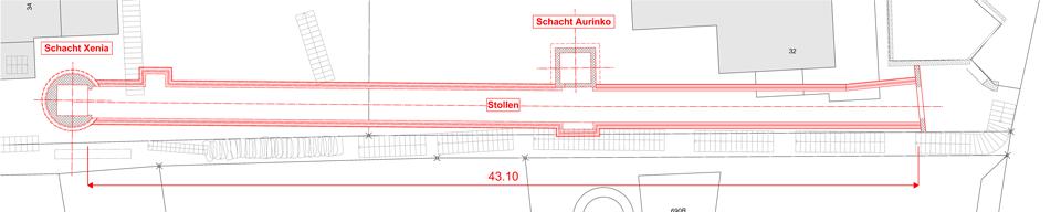 Unterirdische Hauszugänge in Ronco: Situationsplan
