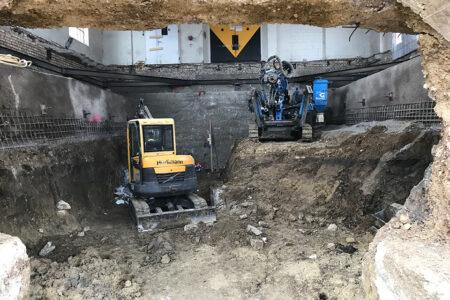 Papieri-Areal, Cham (ZG): Baugrubensicherung