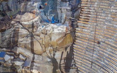 Grossbaustelle im Gebirge: Die Staumauer Spitallamm auf 1'900 m ü. M.