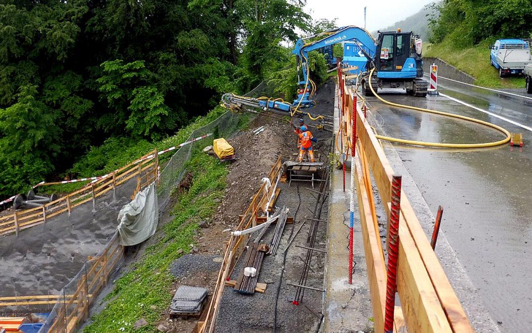 Drei Stützmauern der Kantonsstrasse erneuert