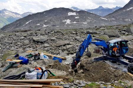 Infrastruktur im alpinen Raum: Wasserfassung SAC Albert-Heim-Hütte