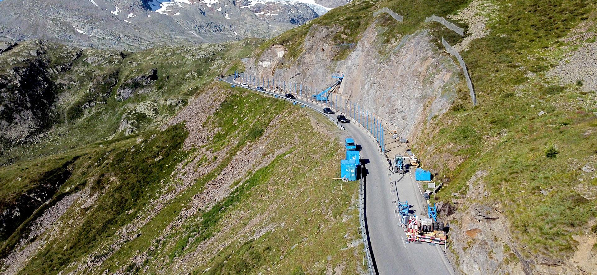 Effiziente Felssicherung am Berninapass