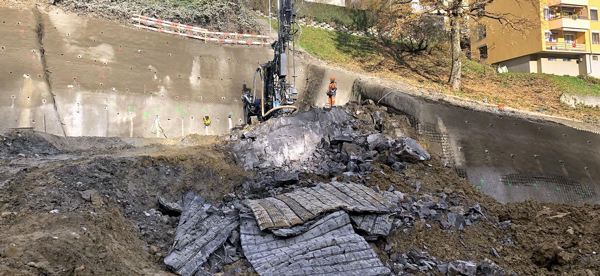 Harter Fels in der Baugrube: Wie weiter?
