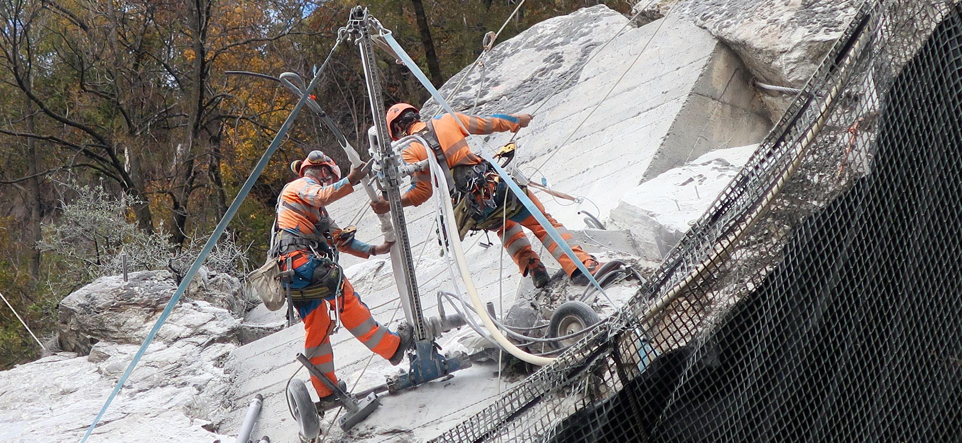 Schutzwerke für die BLS-Südrampe