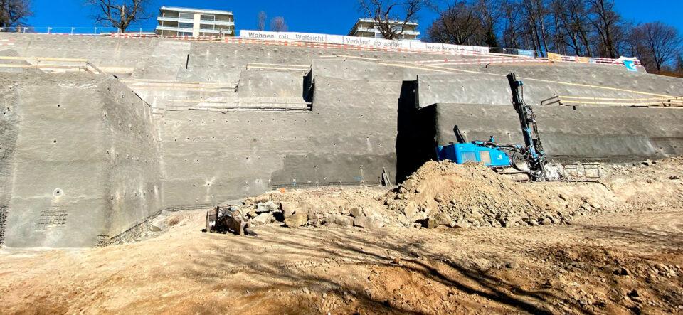 Baugrubensicherung für Krienser Wohnüberbauung
